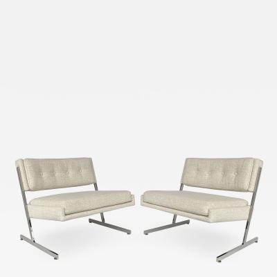 Harvey Probber Pair of Harvey Probber Cantilever Slipper Lounge Chairs