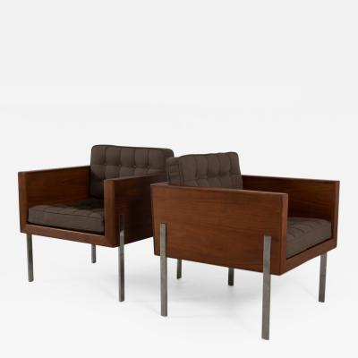 Harvey Probber Pair of Harvey Probber Cube Chairs Model 248