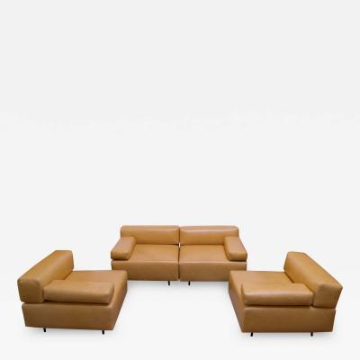 Harvey Probber Pair of Harvey Probber Cubo Leather Sofas