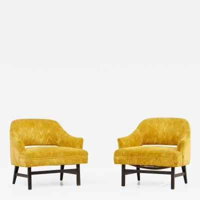 Harvey Probber Pair of Harvey Probber Lounge Chairs USA 1960s