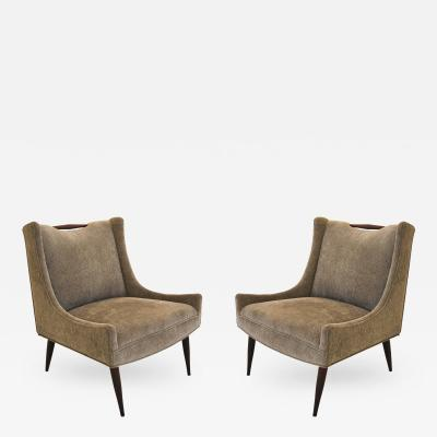 Harvey Probber Pair of Harvey Probber Slipper Chairs