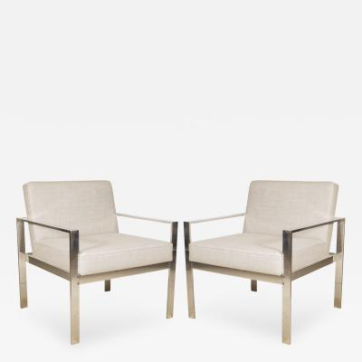Harvey Probber Pair of Harvey Probber Solid Steel Chairs