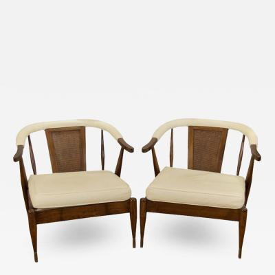 Harvey Probber Pair of Low Slung Lounge Chairs in the Style of Probber