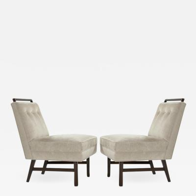 Harvey Probber Pair of Petite Slipper Chairs by Harvey Probber