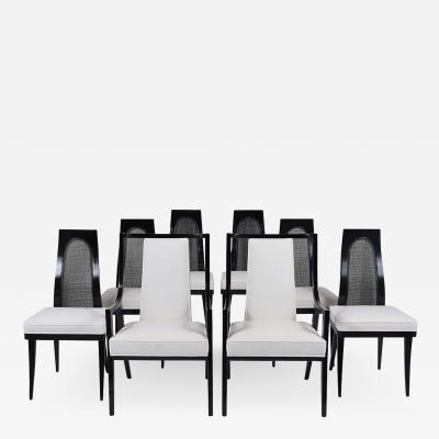 Harvey Probber Set of Eight Mid Century Harvey Probber Dining Chairs