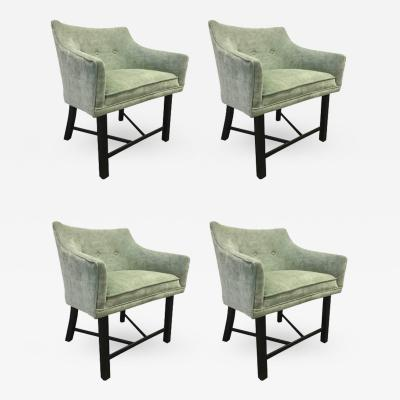 Harvey Probber Set of Four Harvey Probber Club Chairs