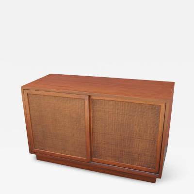 Harvey Probber Small Cabinet with Cane Doors by Harvey Probber