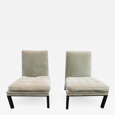 Harvey Probber Stunning Pair of Harvey Probber Chunky Leg Slipper Chair Mid Century Modern