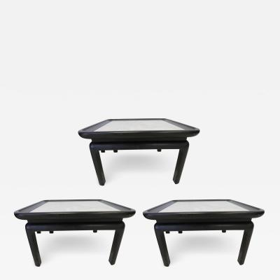 Harvey Probber Stunning Set of Three Harvey Probber Style Marble Side Tables Mid Century Modern