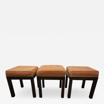 Harvey Probber Stylish Set of Three Harvey Probber Stool Bench Mid Century Modern