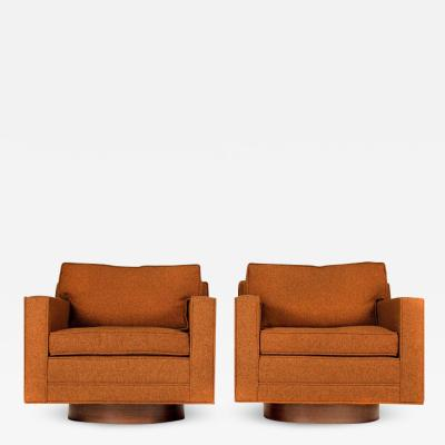 Harvey Probber Swivel Club Chairs Model 1461 by Harvey Probber