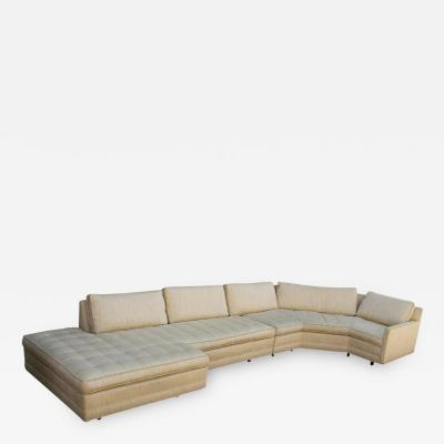 Harvey Probber Two Piece Sectional Sofa Designed by Harvey Probber