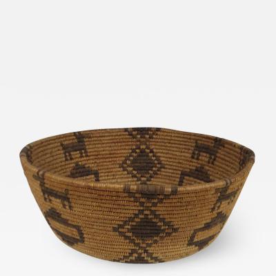 Havasupai figural coiled basket