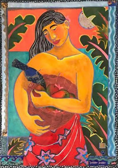 Hawaiian Women Painting