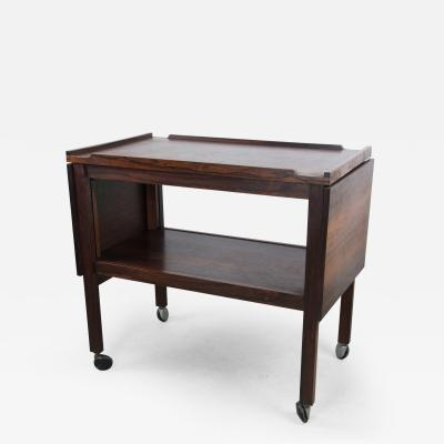 Heals and Son Ltd English Rosewood Bar Cart and Tables by Heals