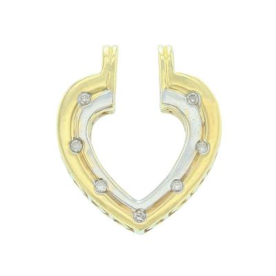 Heart Shape White Diamond Pendant