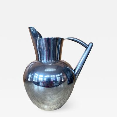 Hector Aguilar Mexican Modernist Silver Pitcher by Hector Aguilar