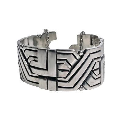 Hector Aguilar Silver Bracelet puzzle design C 1960