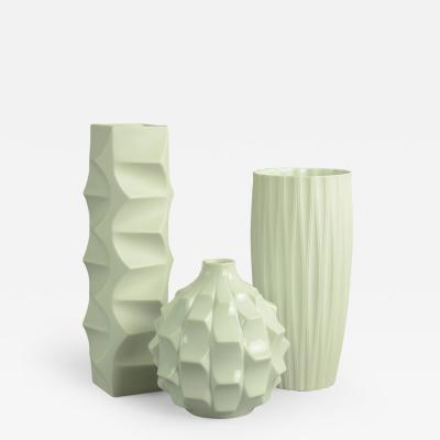 Heinrich Fuchs Group of White Porcelain Vases by Heinrich Fuchs for Lorenz Hutschenreuther
