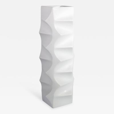 Heinrich Fuchs White Porcelain Vase by Heinrich Fuchs for Hutschenreuther