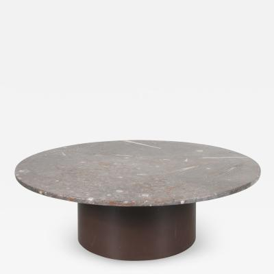 Heinz Lilienthal Fossil inlay coffee table by Heinz Lilienthal Germany 1970