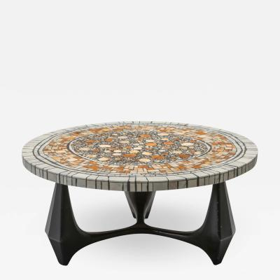 Heinz Lilienthal Heinz Lilienthal Chartre marble mosaic coffee table 1973