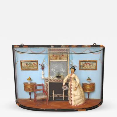Helen Sovereign Mrs Bruce Burkhart Miniature Interior Diorama by Helen Bruce