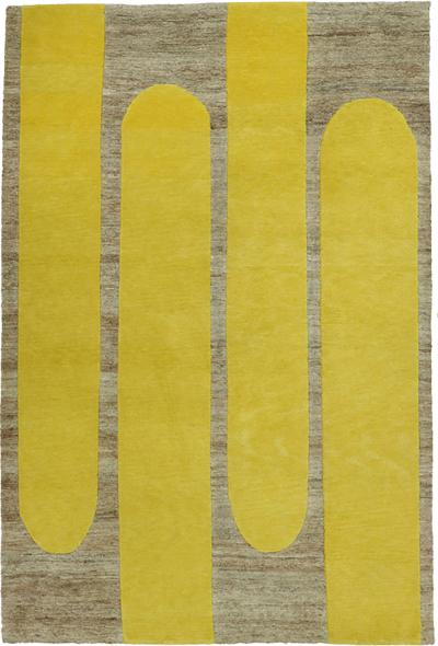 Helena Rohner Helena Rohner Rectangular Wool And Jute Lemon Popsycle Carpet India