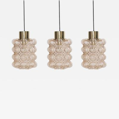 Helena Tynell 1 of 3 Bubble Glass Pendant lights by Helena Tynell for Glash tte Limburg