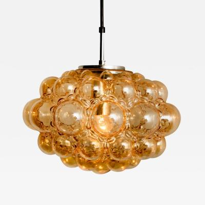 Helena Tynell Amber Bubble Glass Pendant Lamp by Helena Tynell