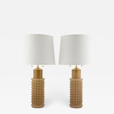 Helena Tynell Helena Tynell for Luxus butterscotch glass table lamps circa 1960s