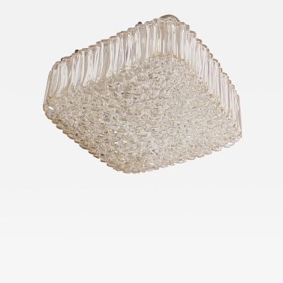 Helena Tynell Large Helena Tynell Square Glass Flush Mount or Sconce for Glashu tte Limburg