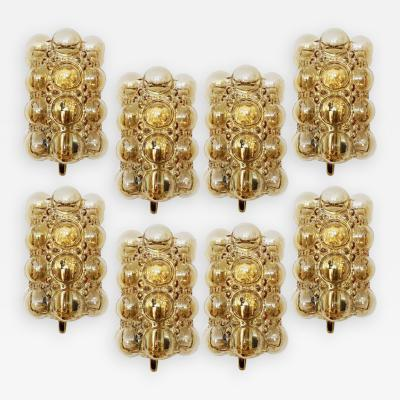 Helena Tynell Large Quantity Glass Wall Lights Sconces by Helena Tynell for Glash tte 1960