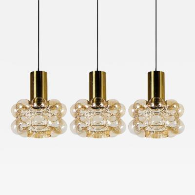 Helena Tynell One of the Three Beautiful Bubble Glass Pendant Lamps by Helena Tynell 1960
