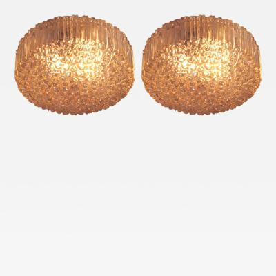 Helena Tynell Pair Extra Large Helena Tynell Bubble Glass Flush Mounts for Glash tte Limburg