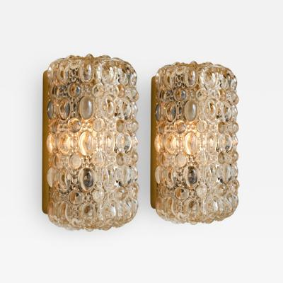 Helena Tynell Pair of Glass Wall Sconces by Helena Tynell for Glash tte Limburg 1960
