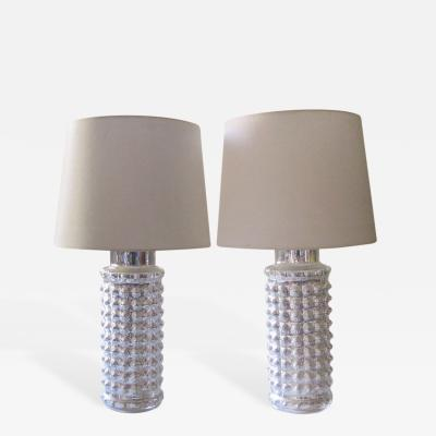 Helena Tynell Pair of Mercury Glass Lamps by Helena Tynell for Luxus