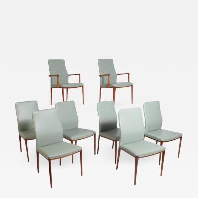Helge Vestergaard Jensen Eight Teak Chairs Designed by Helge Vestergaard Jensen