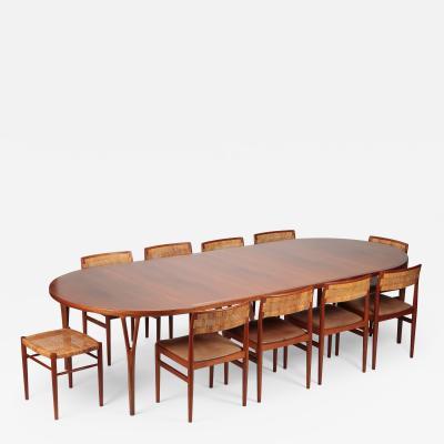 Helge Vestergaard Jensen Helge Vestergaard Jensen Teak Dining Table Peder Pedersen