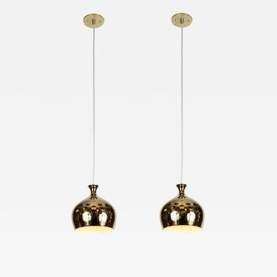 Helge Zimdal 1960s Brass Onion Pendants by Helge Zimdal for Falkenberg