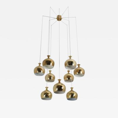 Helge Zimdal Helge Zimdal the Onion Midcentury Swedish Chandelier