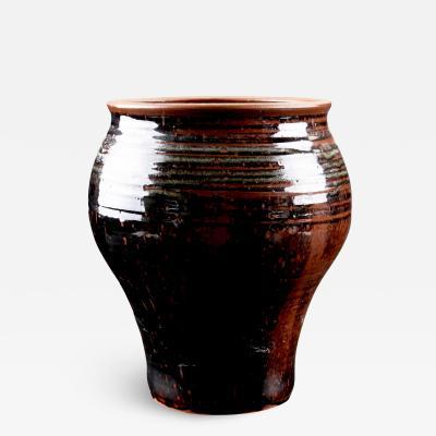 Helle Allpass Large Vase with Black Glaze by Helle Allpass