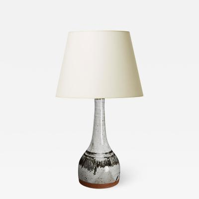 Helle Allpass Table lamp with graphic hatching by Helle Allpass