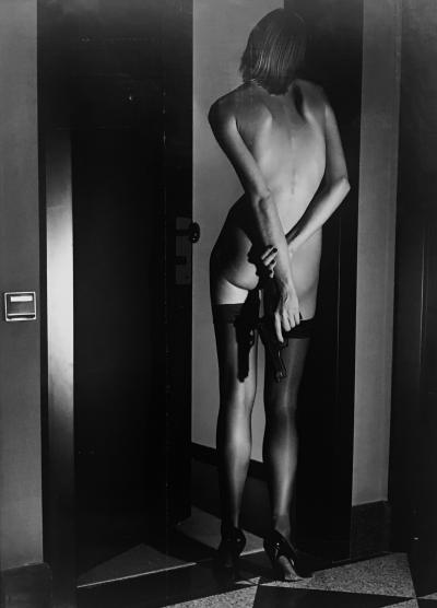 Helmut Newton Girl With Gun Wolford Publicity 1995