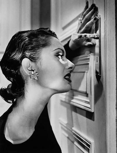 Helmut Newton Heather Looking Through A Keyhole 1994