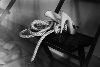 Helmut Newton Rope to the Feet Vogue 1985
