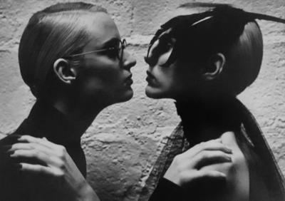 Helmut Newton Two Models Face to Face Vogue Italia Monaco 1994