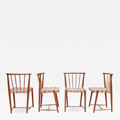 Helmut Otepka Set of Four Helmut Otepka Dining Chairs Austria 1952