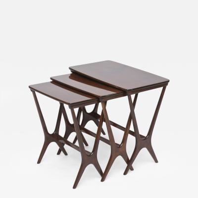 Heltborg Mobler Danish Modern Mahogany Nesting Tables