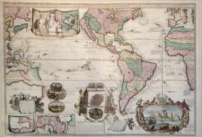 Hendrick De Leth Carte Nouvelle de la Mer du Sud dresse par ordere des principaux Directeurs